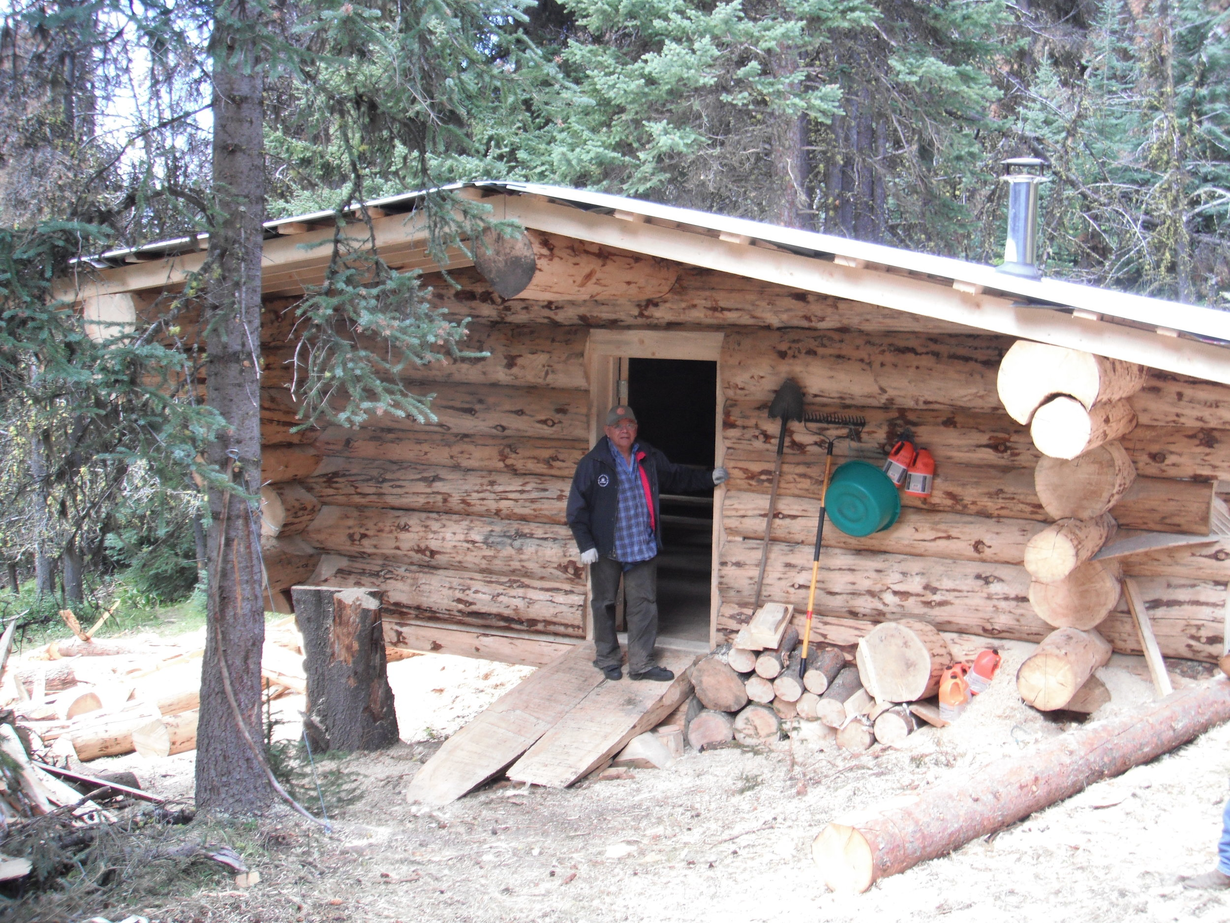 Herman at Cabin.JPG