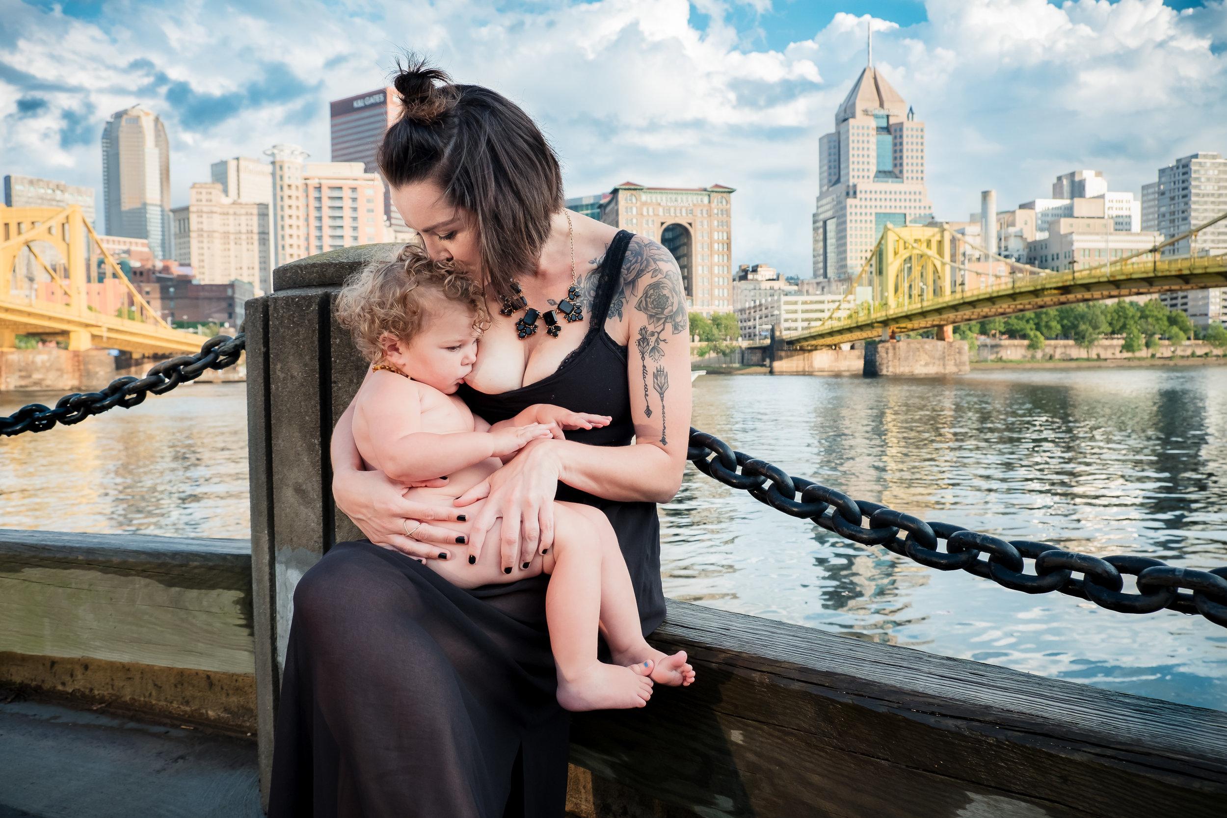 Pittsburgh breastfeeding mother