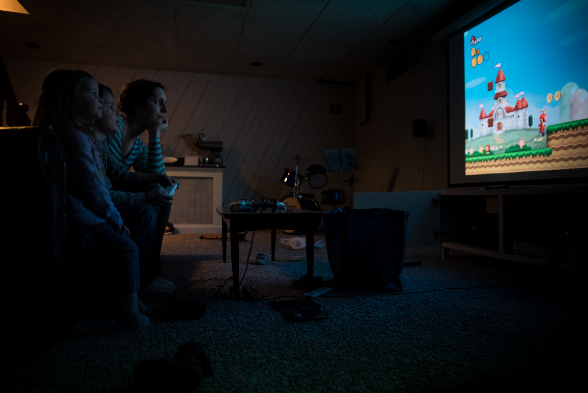 playing mario video games