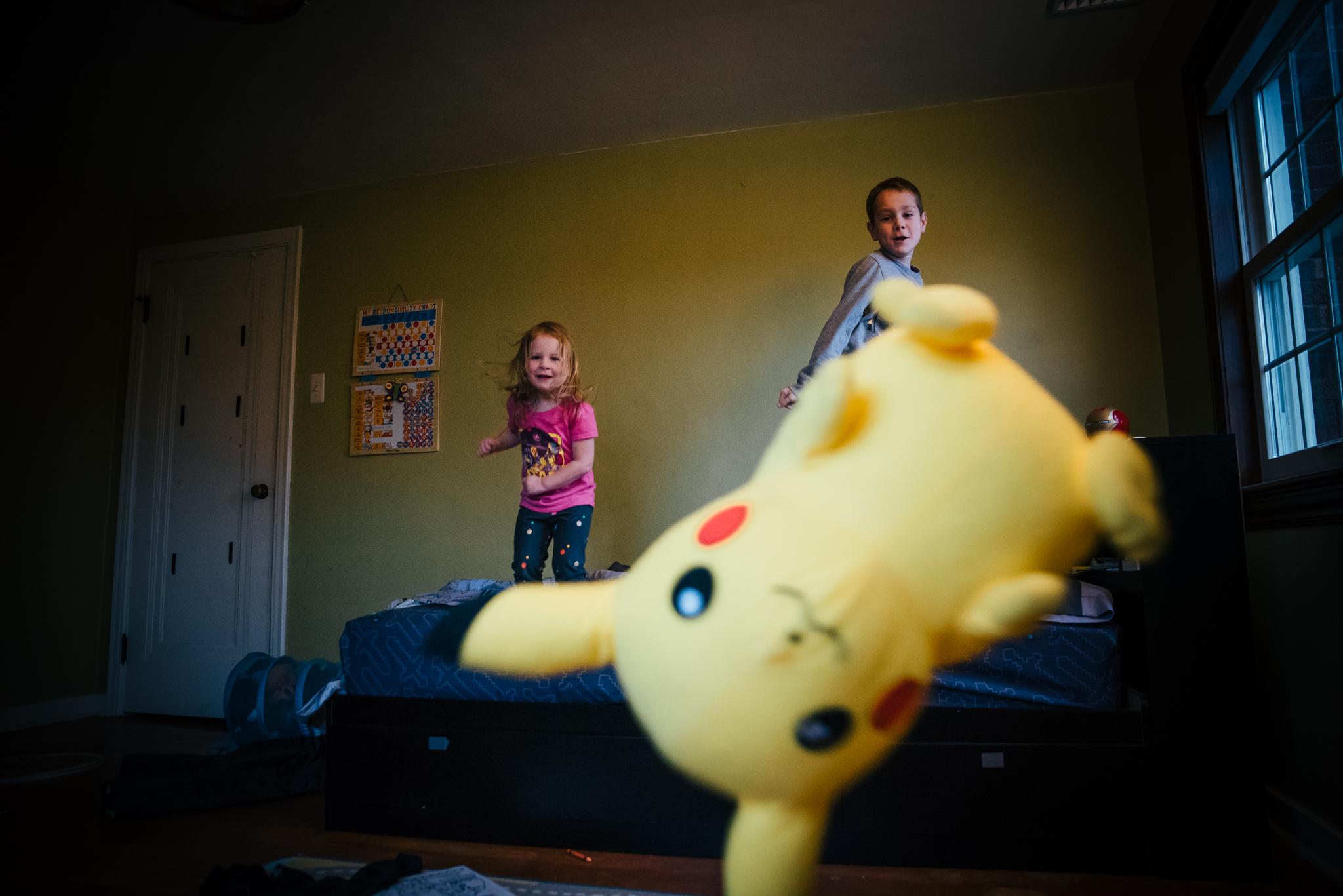 Pikachu in the air