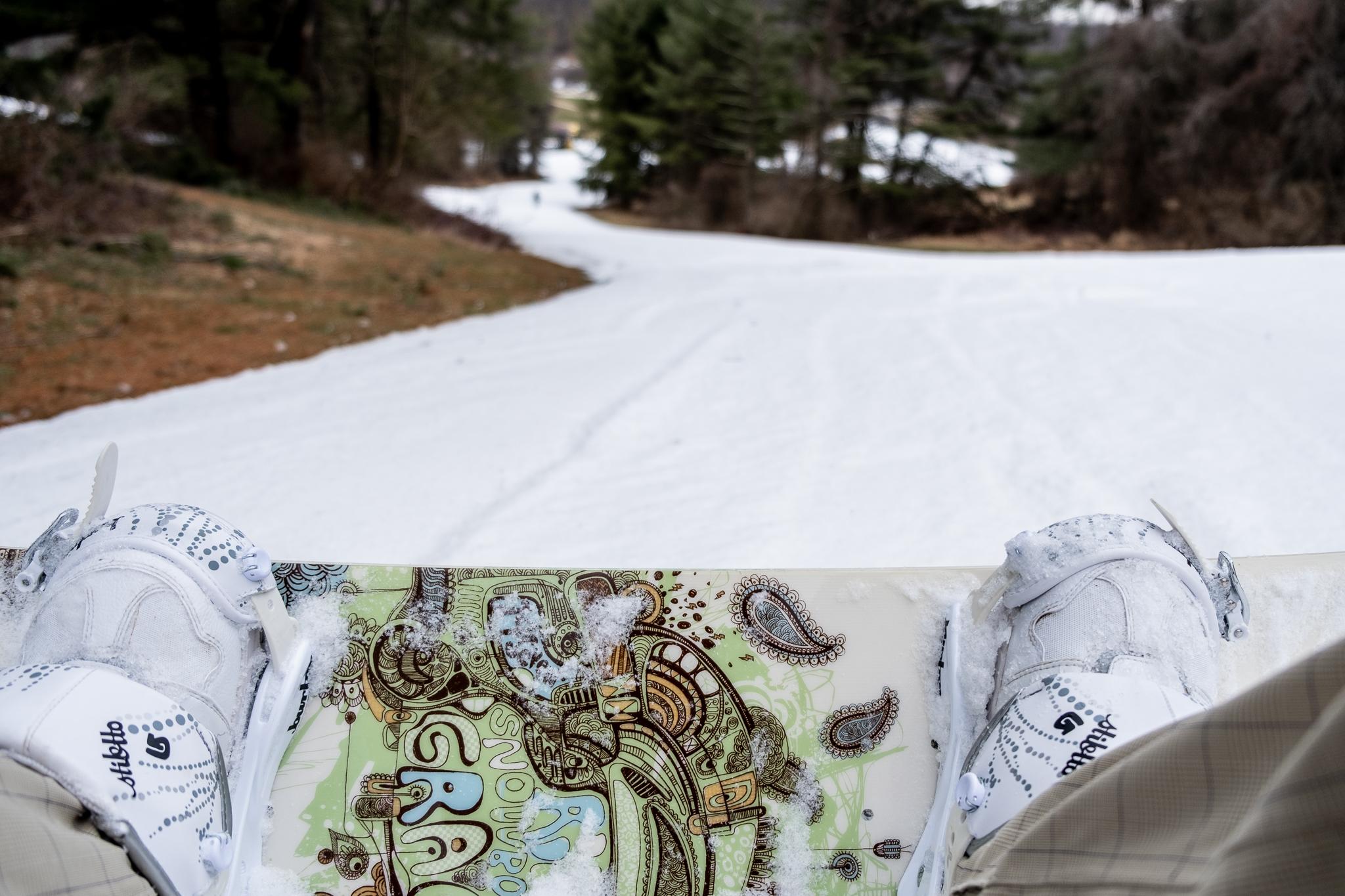 snowboarding at boyce park