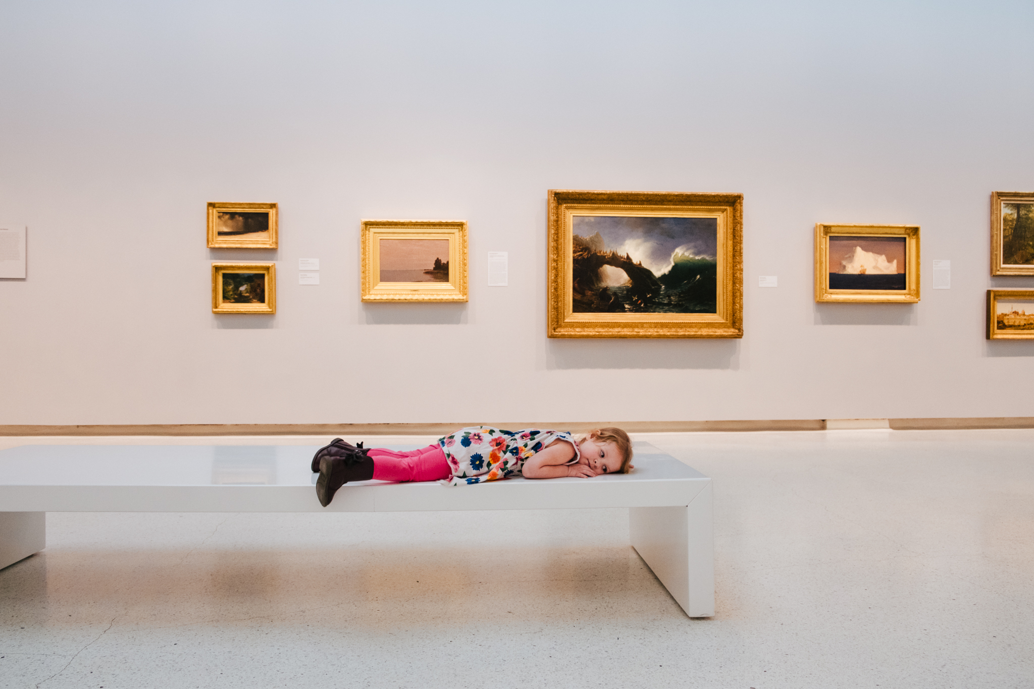 bored kid at carnegie art museum