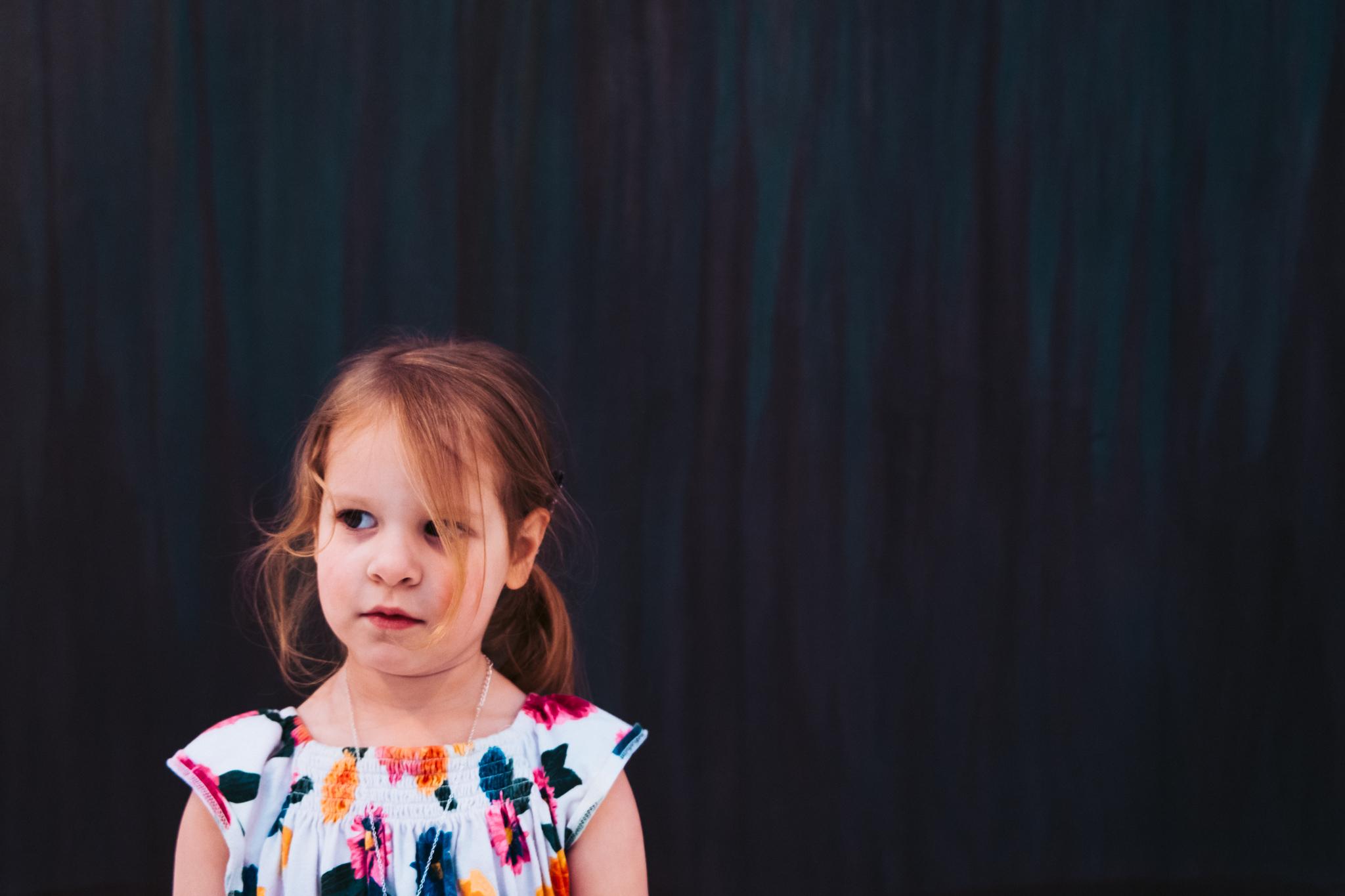 portrait of child at art museum