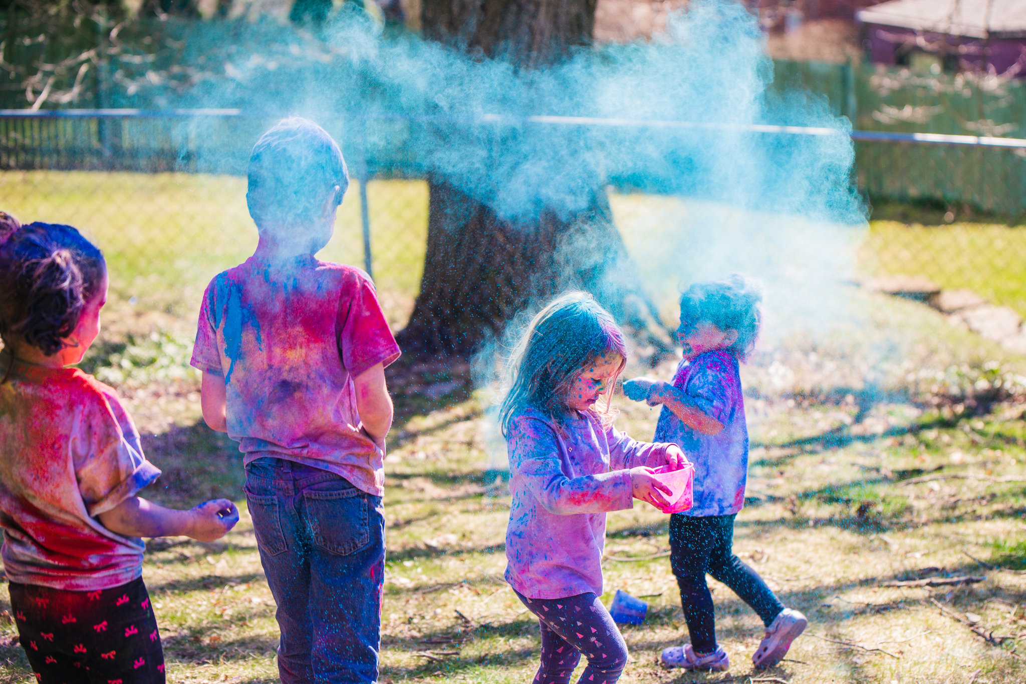 Holi celebration in Spring