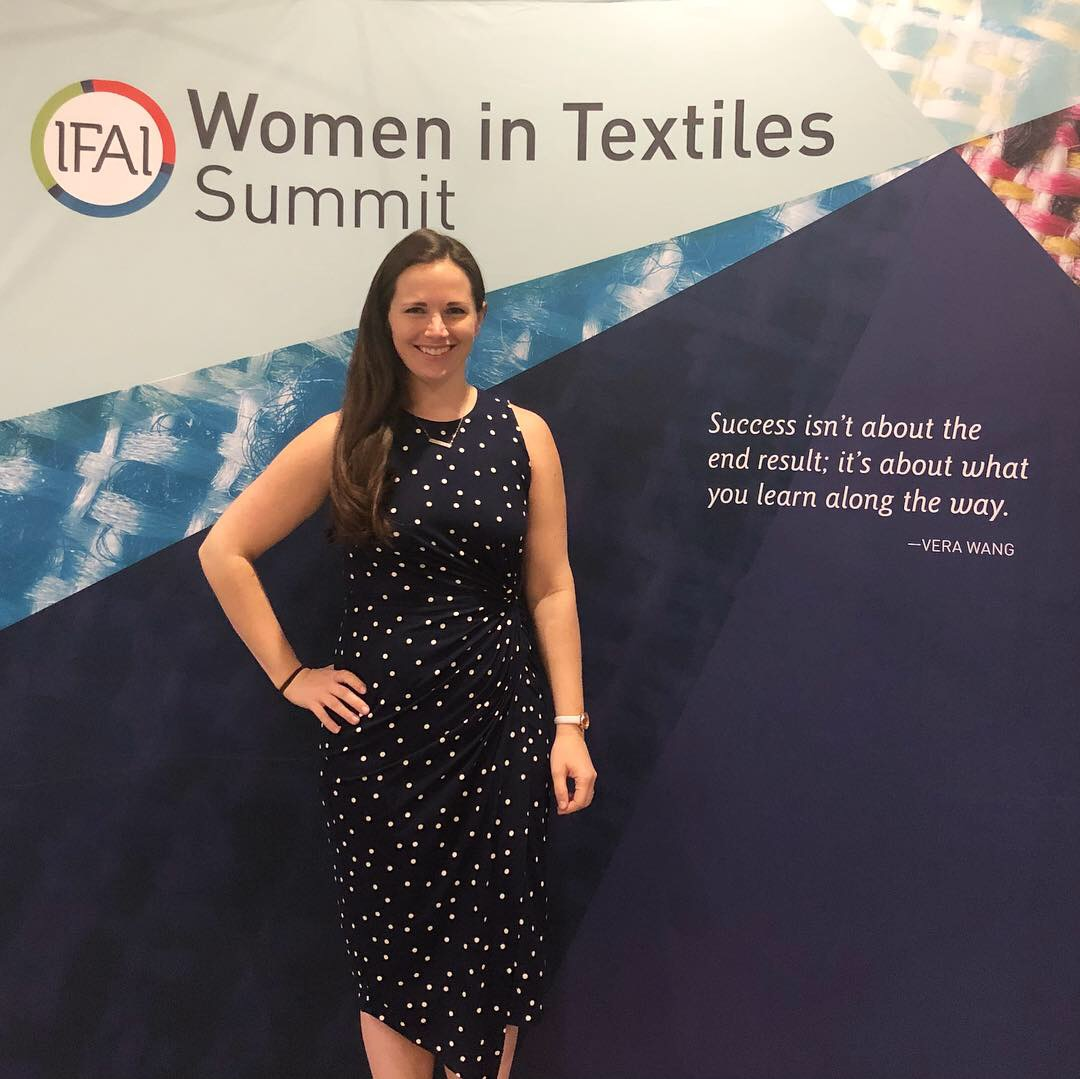 Sarah as the keynote speaker IFAI Women in Textiles Summit Savannah, GA -