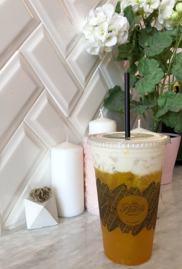 Pearls Finest Teas in Mango Green Tea with Sea Salt Cream