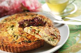 Asparagus and Bell Pepper Quiche -