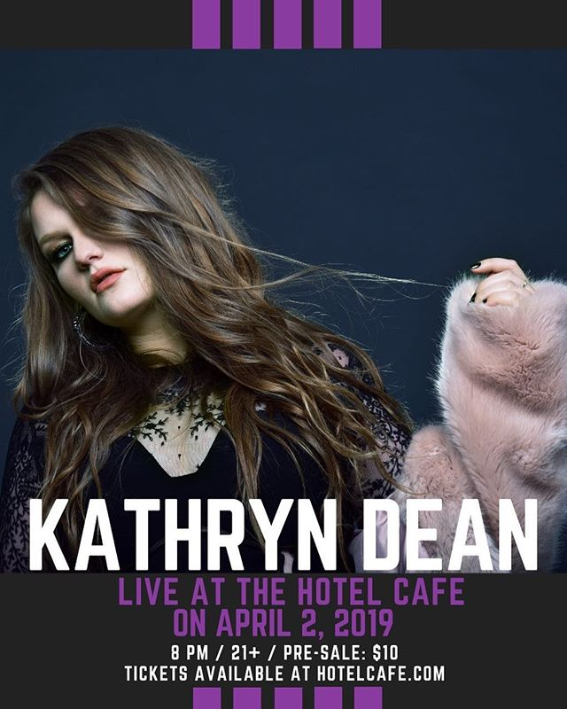 Hey LA!! I'm doing a show on the main stage at The Hotel Cafe with Miranda Glory this Tuesday April 2nd at 8pm! Info at: HotelCafe.com