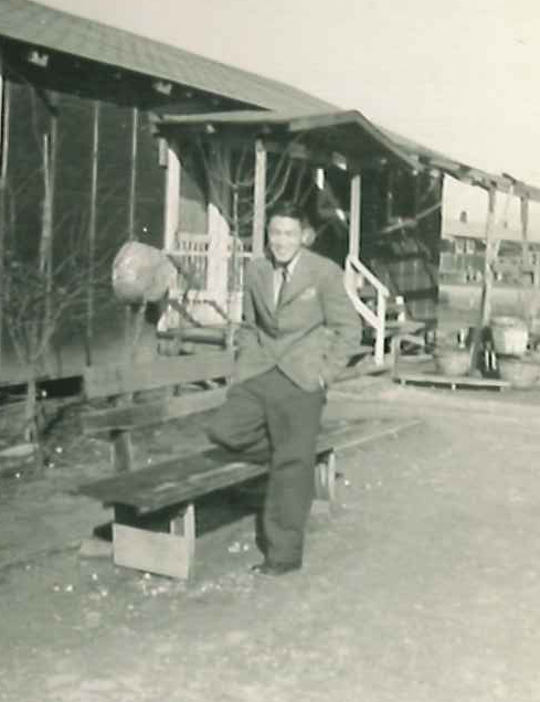 Jason's father, Jim Mikami, in Rohwer, Arkansas camp during WWII