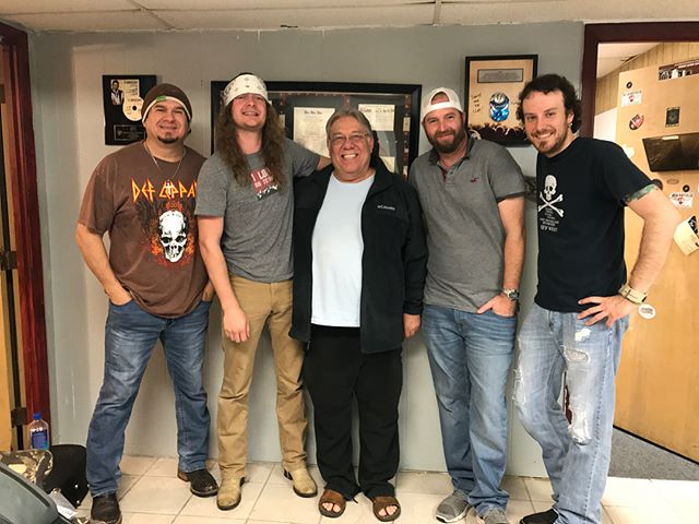 A big thank you to Daddy D from Jalepaño County 94.7 in Corpus Christi and Big Dan at Kicker 106 in Beeville for having us on your stations today #radiotour #thatswhatithinktoo #toredownintexas #texasmusic #cctx #beeville
