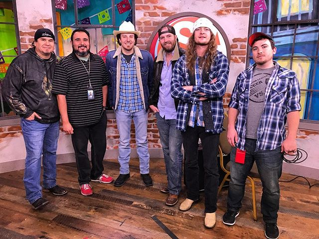 Thanks again @saliveksat for having us  on your show this morning. San Antonio friends keep an eye out for us on the old television set. For the rest of you we'll have a link soon #satx #livemusic #texasmusic #toredownintexas #thecameraaddstenpounds