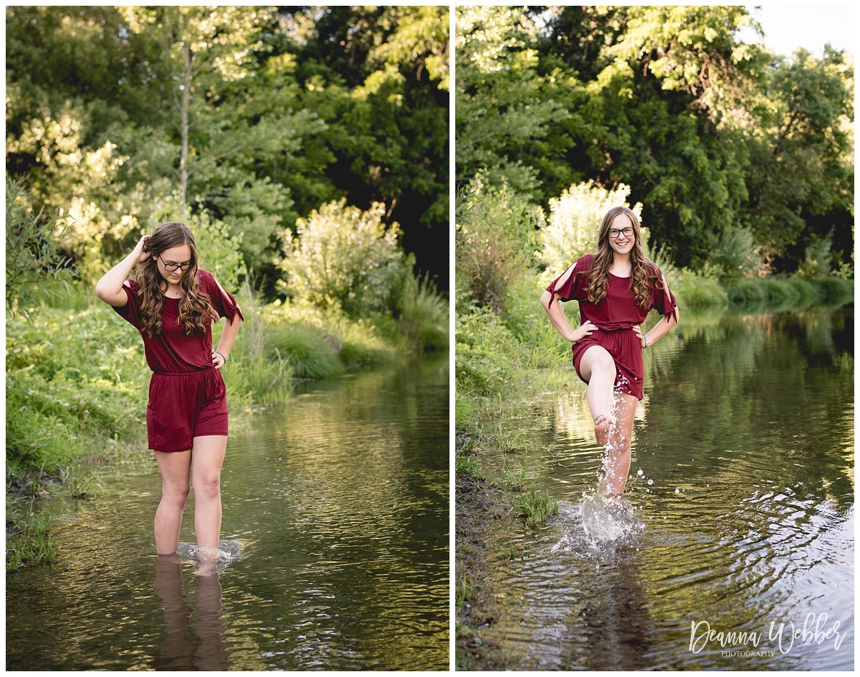 Charleston, SC Senior Photographer, senior girl in water