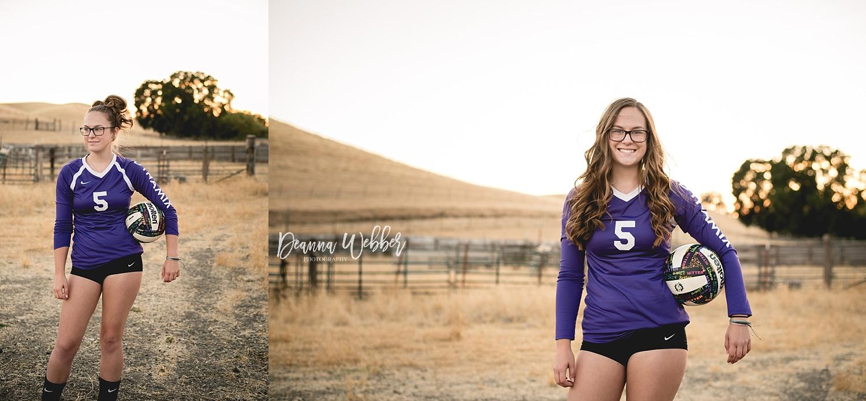Charleston, SC Senior Photographer, senior girl, volleyball, country location