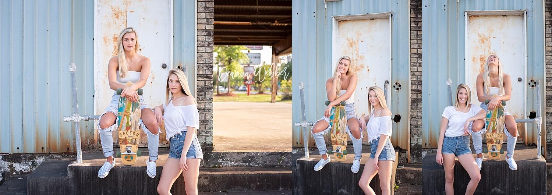 Charleston and Summerville SC cute skater girl themed senior teamsession