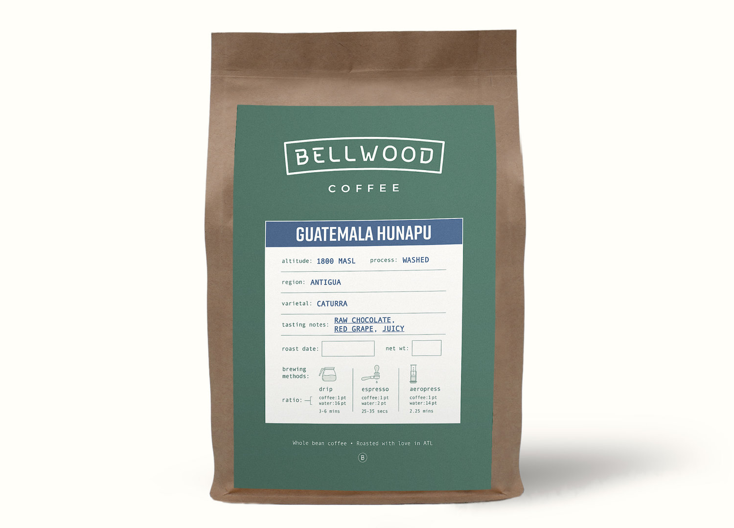 Single Origin - We'll send you one of our Single Origin Coffees on rotation so you can get a taste of what we're dishing up at Bellwood.