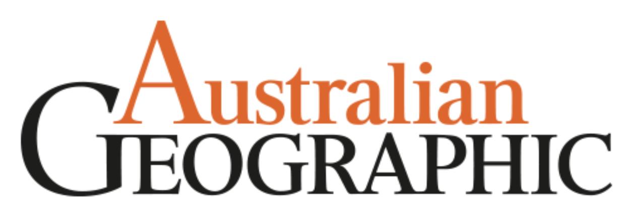 "Australian Geographic magazine,  ""Google program helping research"""