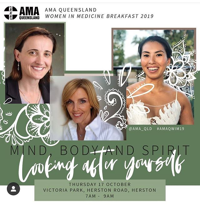 The annual Women in Medicine breakfast by @ama.queensland is nextweek- it's going to be an inspiring morning in sunny #Brisbane,  featuring @yumikokadota 's yoga session and speaking; along with Chief Medical Wellness Officer of @sydneylocalhealthdistrict Dr Bethan Richards and ABC Medical Reporter Sophie Scott. Tickets at ama.com.au/qld/events/women-medicine-breakfast-2019  Image from AMA QUEENSLAND  @mindbodymiko @sophiescott2 #womeninmedicine #womeninstem #medicalwellness #medicalwellbeing #startupwellbeing #medtech #themedicalstartup