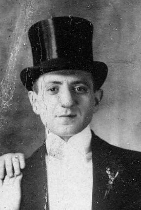 Louis Kaplan on his wedding day in June 1912. His father changed the family name about 10 years before. Photo courtesy of Dave Kaplan.