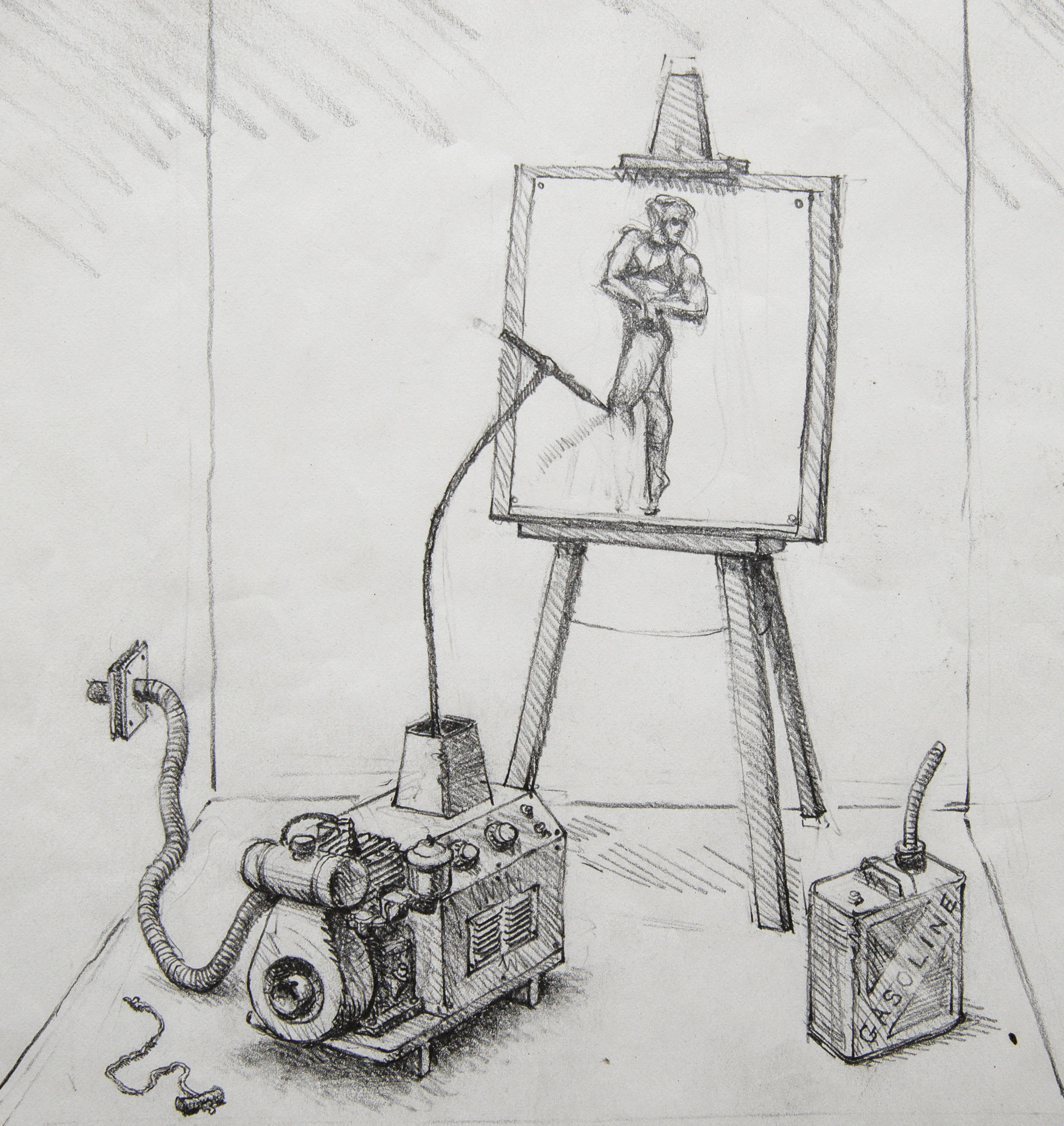 Drawmatic , 1982, pencil on paper (detail)