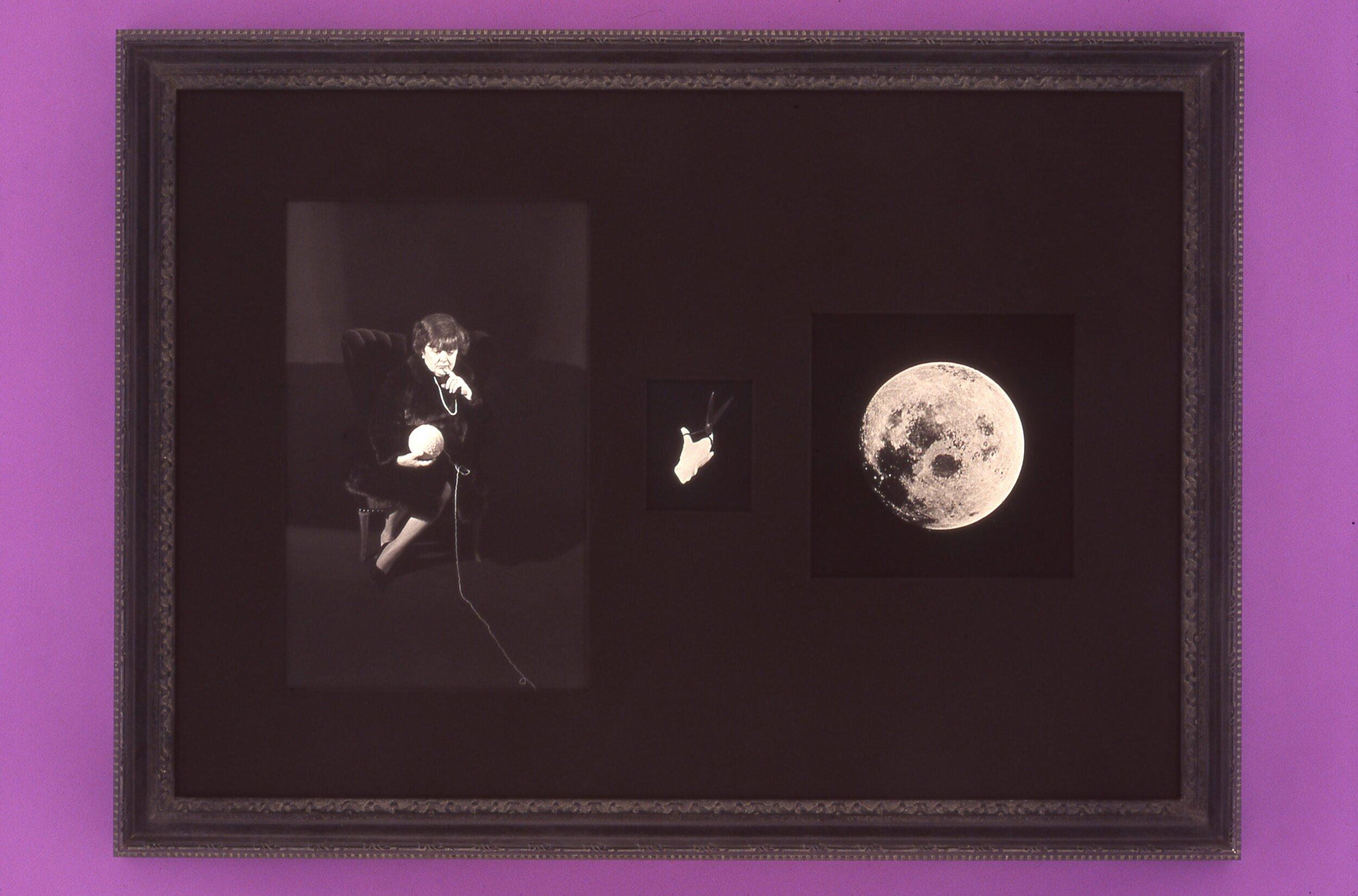 Portrait of the Artist's Mother, Marcella Montagna-Boskovich,  1998  Gelatin silver prints, gouache  40 x 31 1/2 inches
