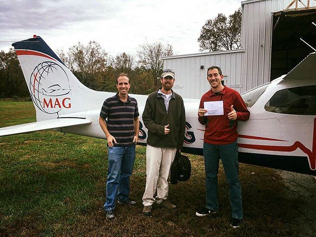 We are celebrating with Jason today as he received his Private Pilot Certificate! We are glad to have Jason as part of our MAG family!  #flyMAG