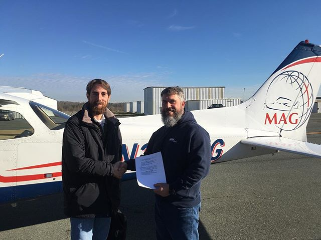 Let's all congratulate Andy as he passed his commercial checkride today!  #flyMAG