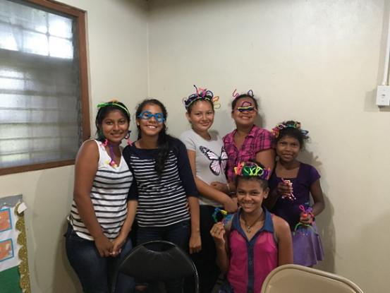Teen ladies who assisted with VBS at Rus Rus and Suhi.