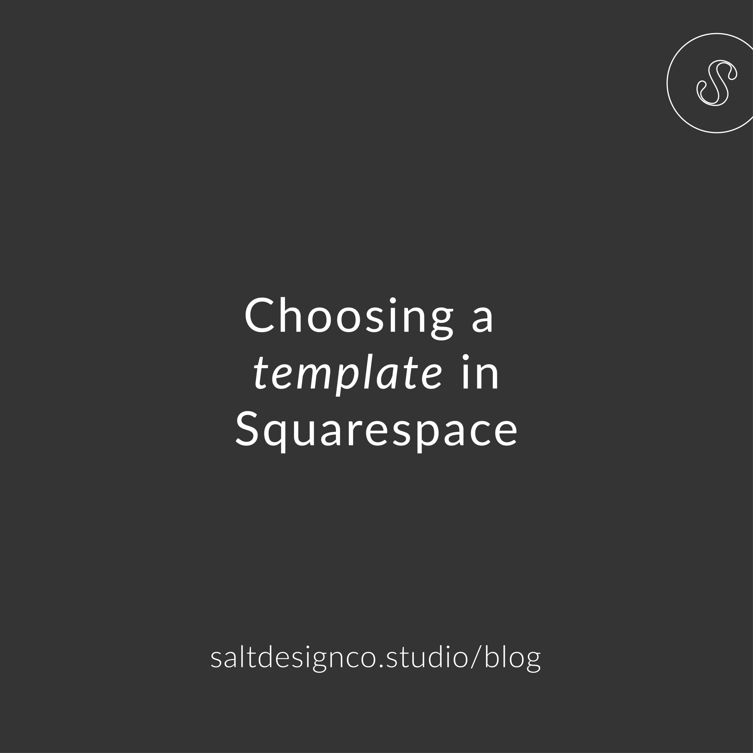 How to choose a template in Squarespace