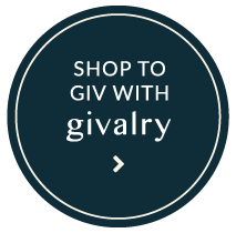 "Givalry ""Shop to Give"" social buttons in Blue"