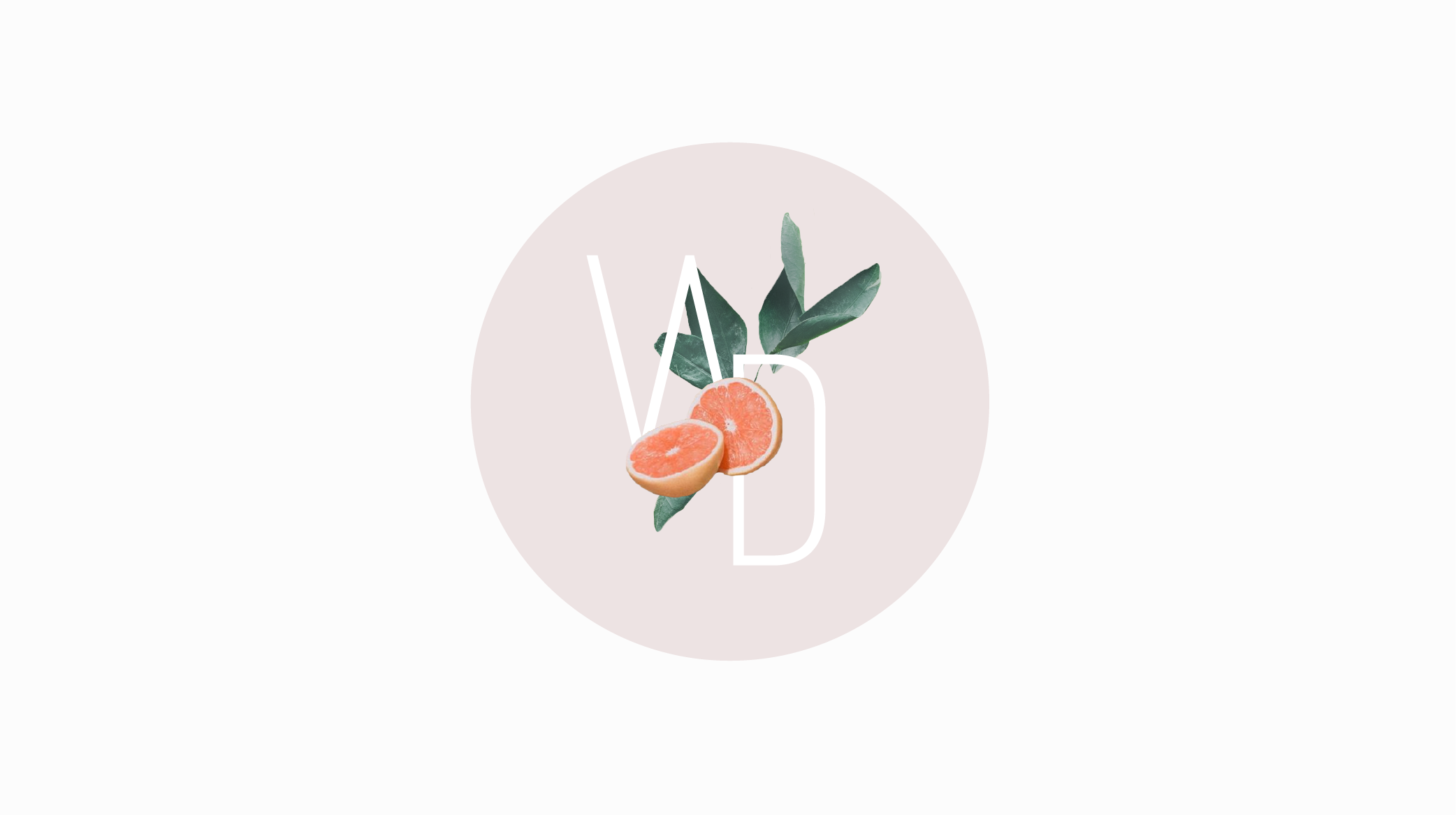 Well Daily logo with orange leaves in a soft muted pink circle