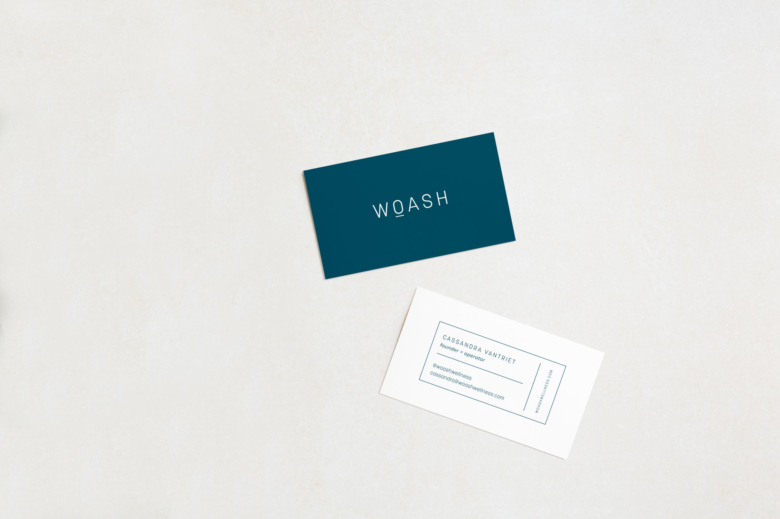 WOASH Wellness Business Cards designed by Salt Design Co.