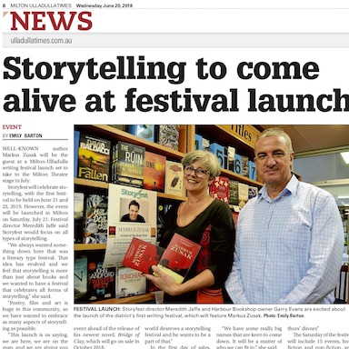 Storytelling to come alive at festival launch - MU Times - June 2018Read on . . .