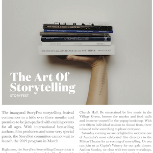 The Art of Storytelling - White Wash Magazine - Issue 12 - March 2019Read on . . .