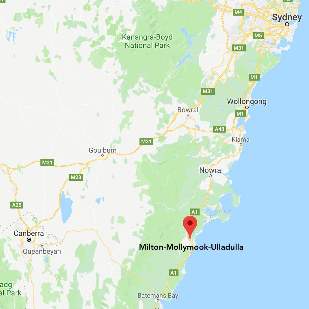 Map to Milton Mollymook Ulladulla.png