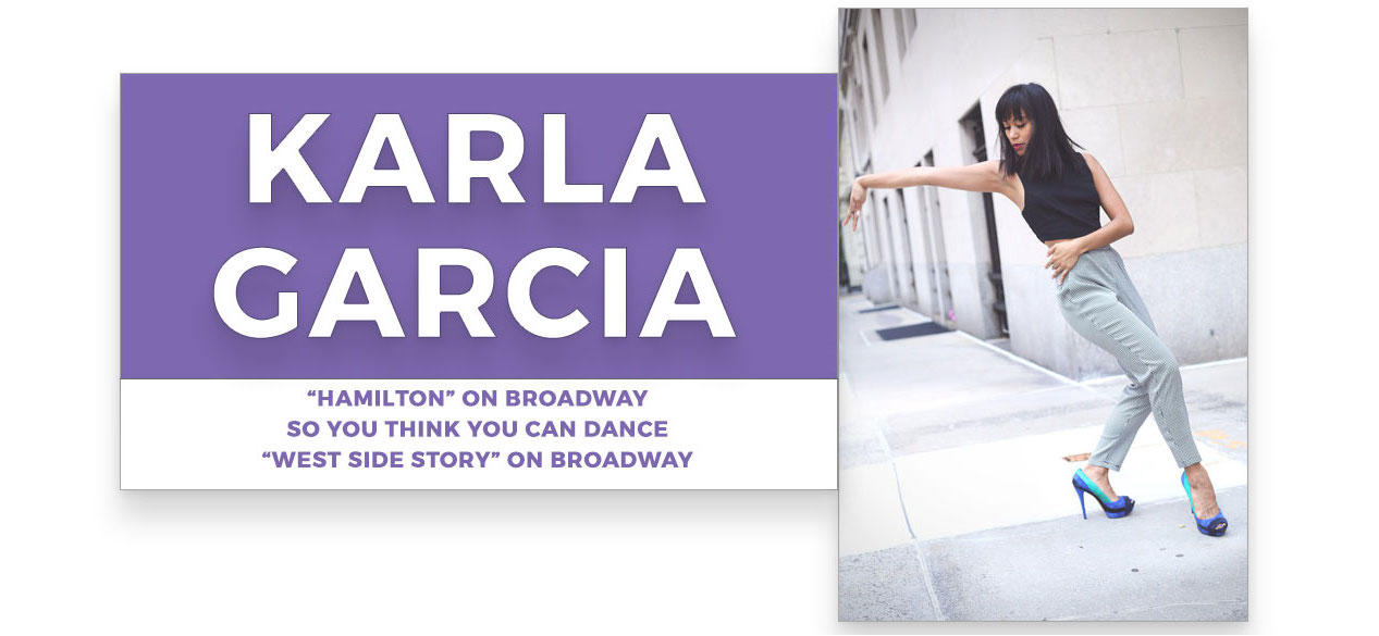 karla garcia | Stage Door Workshops | In-Studio Workshops, NYC LA Dance Trips, Broadway Dance Master Classes, Choreography, Intensives | Broadway, So You Think You Can Dance, Hamilton, Wicked, Aladdin, World of Dance, Beyonce, Alvin Ailey, Shaping Sound