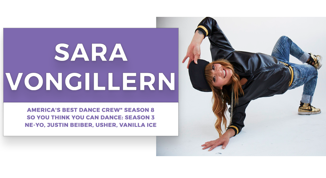sara vongillern | Stage Door Workshops | In-Studio Workshops, NYC LA Dance Trips, Broadway Dance Master Classes, Choreography, Intensives | Broadway, So You Think You Can Dance, Hamilton, Wicked, Aladdin, World of Dance, Beyonce, Alvin Ailey, Shaping Sound