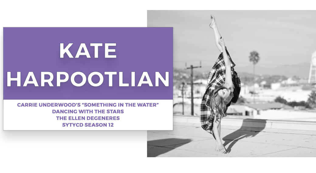 kate harpootlian  | Stage Door Workshops | In-Studio Workshops, NYC LA Dance Trips, Broadway Dance Master Classes, Choreography, Intensives | Broadway, So You Think You Can Dance, Hamilton, Wicked, Aladdin, World of Dance, Beyonce, Alvin Ailey, Shaping Sound