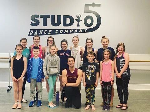 Super fun masterclass with Anastasia cast member @kennethhmichael last weekend 🤩 @studio_fivedance