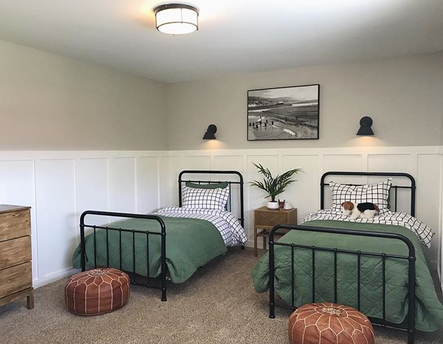 👦🏼 Boy room on a budget.  I didn't want to spend a lot of money or time on this because toddlers and laundry consume me. 🧺 I found the best prices for the look I was going for, and it only took me four days🙌🏼 Ask any questions below. ☺️I reused an old Malibu pier photo, & the flush mount light fixture is Ikea. Everything else I will link in stories and a highlight bubble ☺️swipe to see before.
