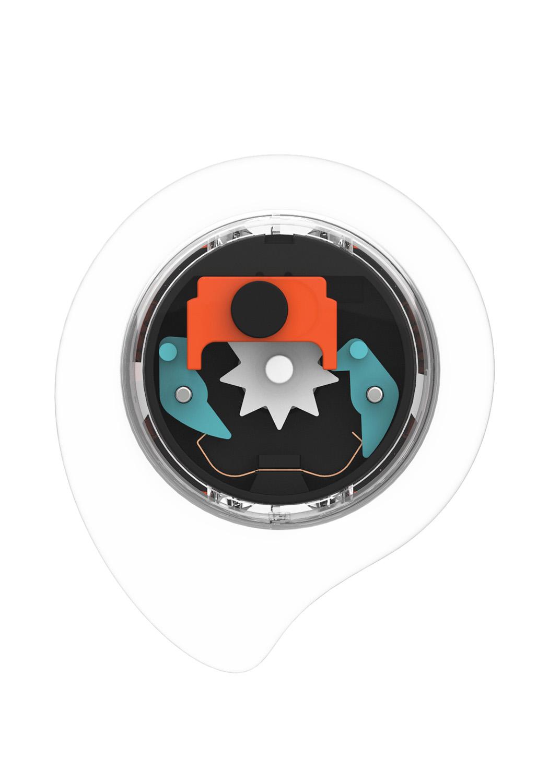 méCANISME de clic intégré - Un petite mécanique logée sous la paume de votre main.