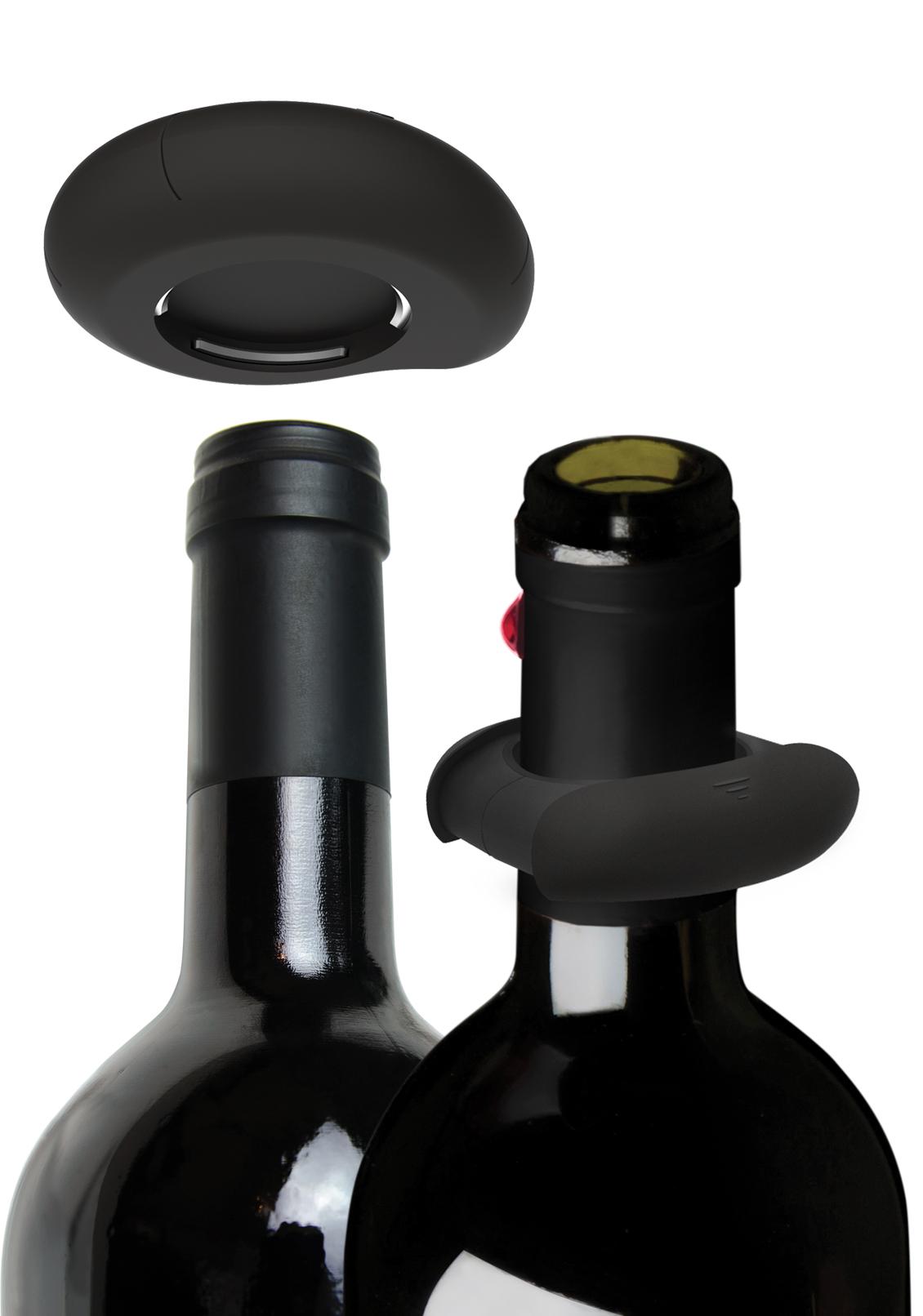 Découpe-capsuleet antigoutte - Découpez la capsule en un seul geste. Détachez les deux côtés et passez-les autour du goulot de votre bouteille. La feutrine de protection absorbera les éventuelles gouttes de vin.