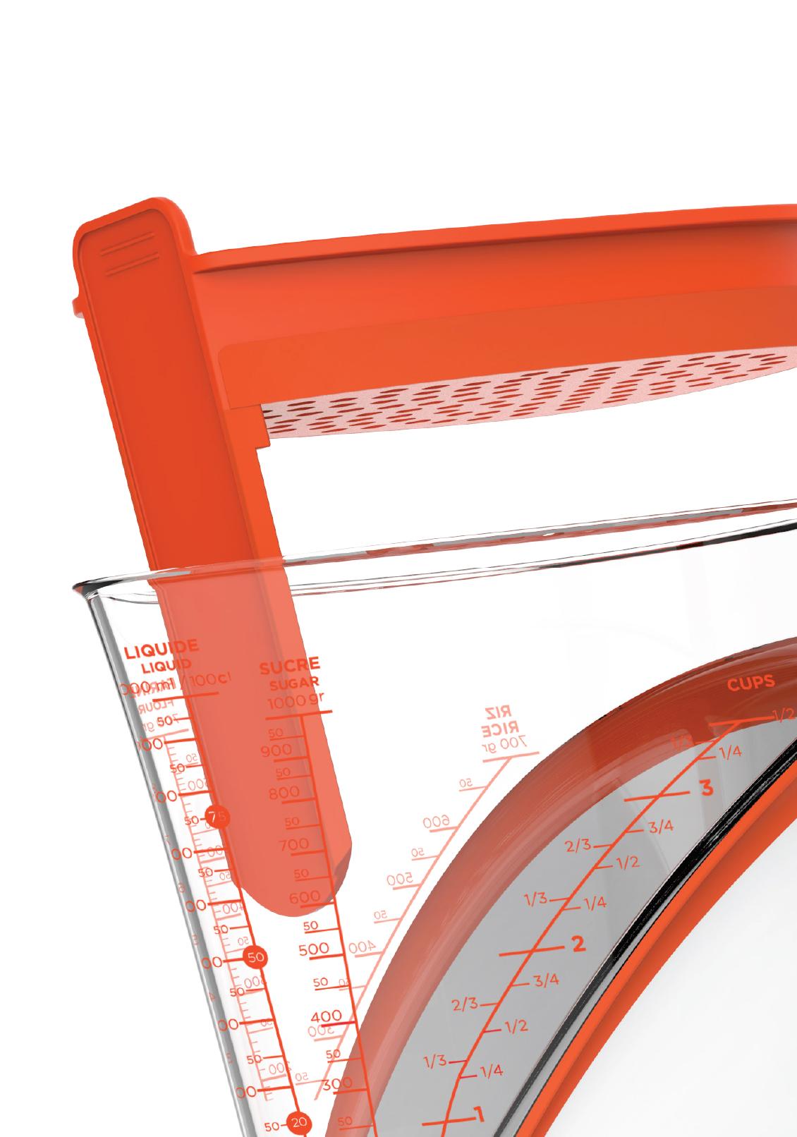 INSERT SéPARATEUR DE gras - Optimisez vos espaces. Ajoutez l'insert FAT SEPARATOR pour transformer votre pichet à mesurer en séparateur de gras.• Facilement démontable• Passe au lave-vaisselle