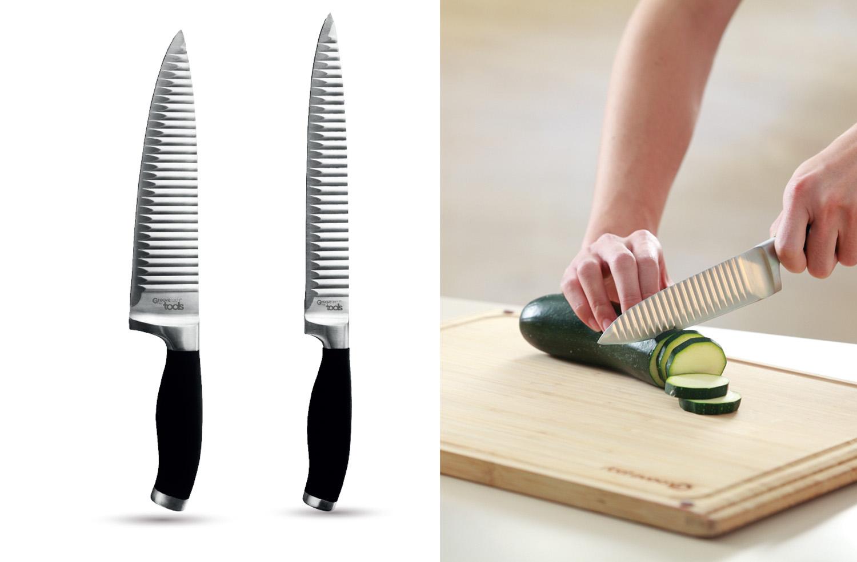 couteau chef & tranchant 20 cm - • Poignée ergonomique• Lame inox haute qualité• Découpe franche sans rainures• L'aliment ne colle pas à la lame500315 Couteau chef 20 cm500313 Couteau tranchant 20 cm