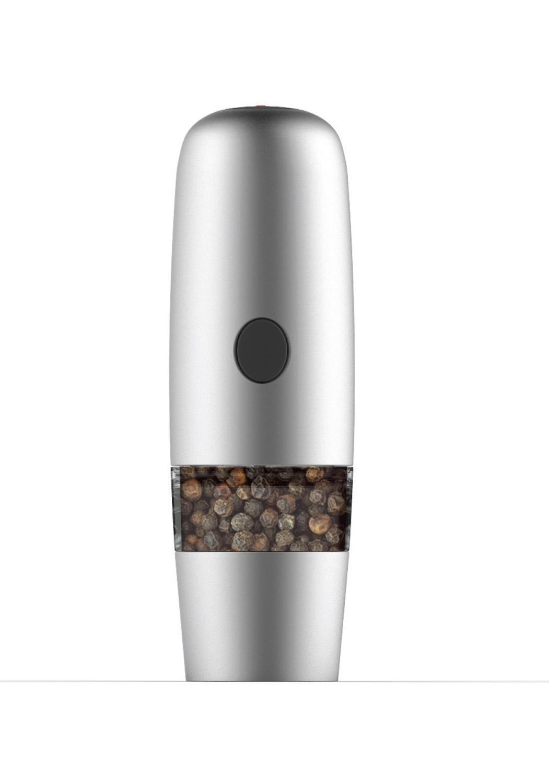 ELECTRONIC - Système «SLoW Grinder».Ce mécanisme électronique très puissant s'active d'une simple pression sur le bouton. Mécanisme à mouture lente qui permet de moudre tous les types de poivres de manière quasi silencieuse (moins de -80Db). Les deux parties peuvent être démontées pour enfaciliter le nettoyage.• Système SLoW Grinder• Base en inox + partie haute chrome finition mate• Mécanisme céramique garanti• Luca Trazzi design.23000 ELECTRONIC MILLS