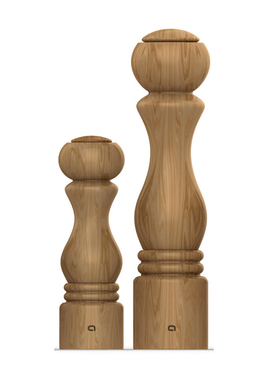 Moulins ToRINO - • Moulin en bois de chêne• Mécanisme céramique garanti 25 ans• Réglage de la mouture• Prise en main facileMOULIN TORINO200910 - 300 MM200200 - 200 MM