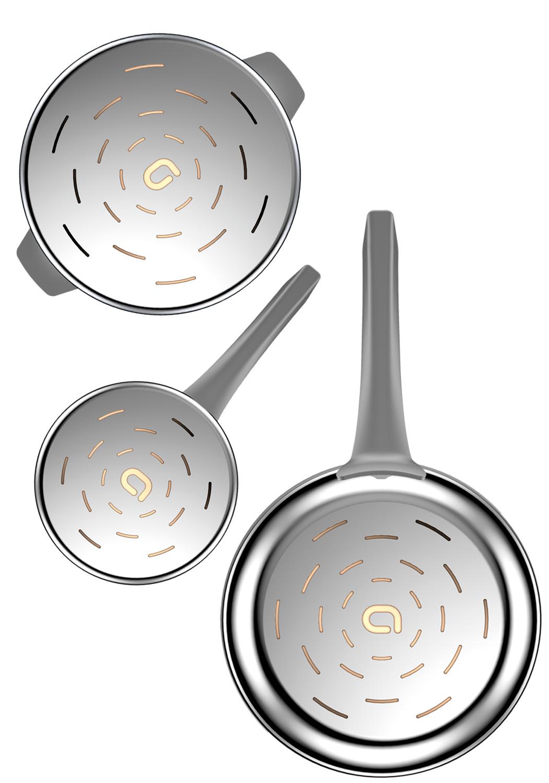FOND : CNC CIRCULAIRE - La technologie Computer Numerical controled Cutting™ (CNC) a été conçue pour maximiser la puissance de conduction.Cette découpe ultraprécise contrôlée digitalement par informatique laisse apparaître le cuivre et permet à votre ustensile de monter en température dans un temps record.En optimisant la chauffe de vos ustensiles, vous réduisez votre consommation d'énergie tout en préservant les qualités nutritionnelles et gustatives des produits cuisinés.• Maximiser la puissance de conduction du cuivre sur votre ustensile• Le faire dans un temps record• Préserver les qualités nutritionnelles et gustatives de vos aliments• Réduire votre consommation d'énergie