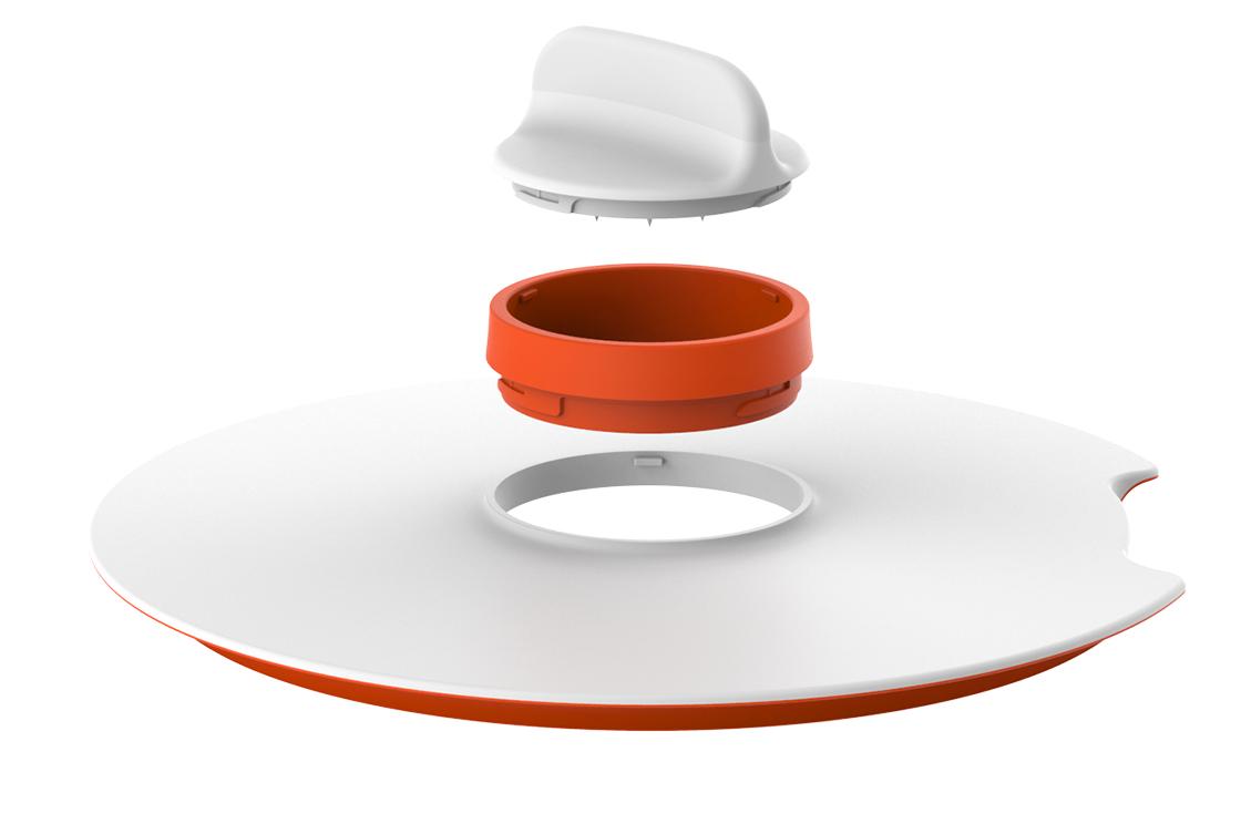 choississez l'insert qui vous convient - Couvercle de diamètre 24 CM, le SPIRALIZER LID offre la possibilité de changer d'insert en fonction de vos besoins. Vous passez facilement d'une des 3 lames spiralizer à un zester ou au séparateur à œuf sans retirer le couvercle de votre bol à mixer.• Couvercle ø 24 CM, bord intérieur antiglisse pour assurer la stabilité.