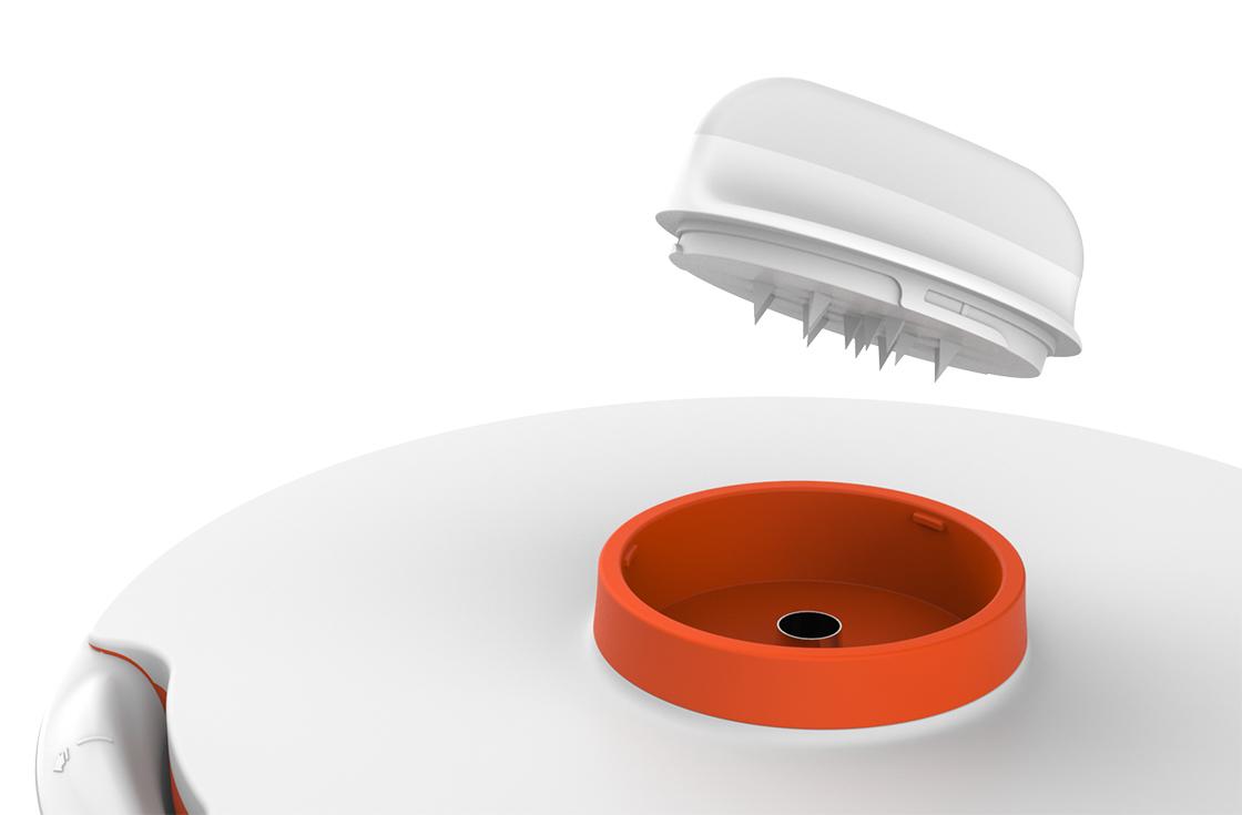 Bouton poussoir - Autre atout, son bouton poussoir vous permet de maintenir vos aliments en position pendant la coupe. Sa poignée plate, quant à elle vous assure une très bonne prise en main.• Bouton poussoir et poignée plate pour un geste sans effort.