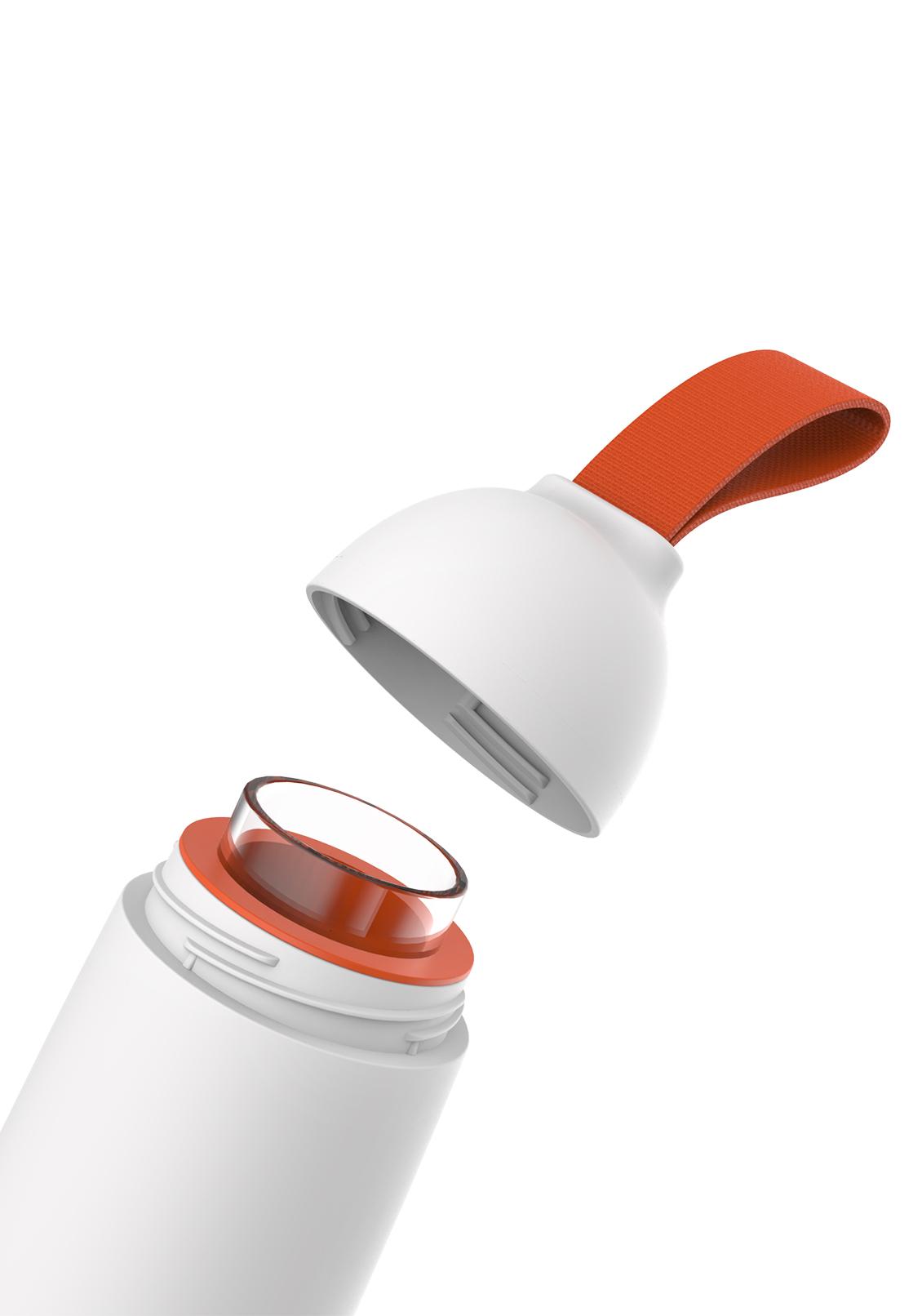ouverture facile - Son joint en silicone et son système de fermeture à gros pas de vis sont hermétiques. Sa anse en tissu vous assure une prise en main facile. Rangement compact dans votre sac.• hermétique• rangement compact