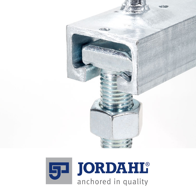 Versatile and proven connection system used for curtain walls, guide rails, handrails and overhead cable connections. Available in hot-dip galvanised steel or stainless steel